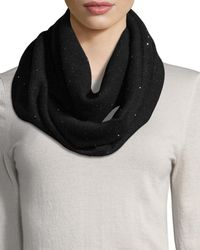 Sofia Cashmere - Sequined Cashmere/silk Infinity Scarf - Lyst