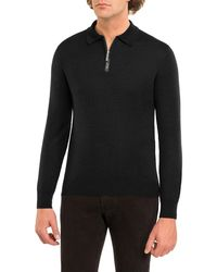 Stefano Ricci - Crocodile-trim Cashmere-silk Half-zip Sweater - Lyst