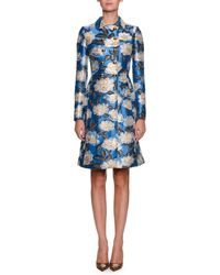 Dolce & Gabbana - Double-breasted Printed Jacquard Top Coat - Lyst