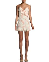 Lovers + Friends - Chauncey Floral Lace Frill Mini Dress - Lyst