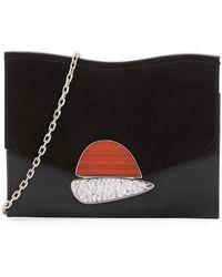 Proenza Schouler - Small Curl Leather & Suede Clutch Bag - Lyst