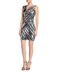 ed6637b71d89 Parker Black - Kensington Sequin Striped Asymmetric Mini Dress - Lyst