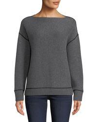 Neiman Marcus - Reversible Double-knit Cashmere Sweatshirt - Lyst