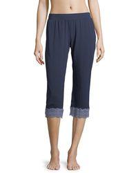 Cosabella | Sonia Crop Lace-trim Lounge Pants | Lyst