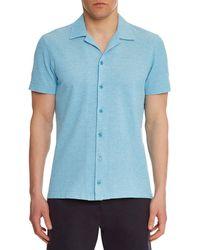Orlebar Brown - Men's Travis Pique Sport Shirt - Lyst
