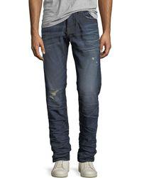 True Religion - Geno Distressed Slim-straight Jeans - Lyst