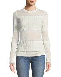 J Brand - Panelled Fine Knit Sweater - Lyst