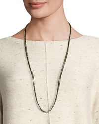 Eileen Fisher - Ribbons Beaded Necklace - Lyst