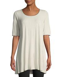 Eileen Fisher - Silk Jersey Swing Tunic - Lyst