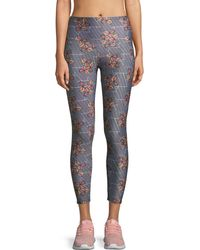 Onzie - Basic Printed High-rise 7/8 Leggings - Lyst
