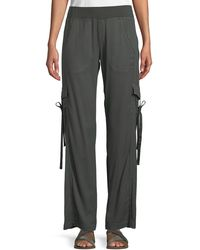 XCVI - Vroni Relaxed Cargo Pants With Grommet & Tie Detail - Lyst