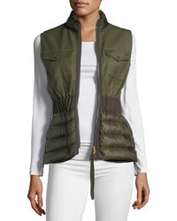 Moncler - Beryl Semi-fit Mixed-media Vest - Lyst