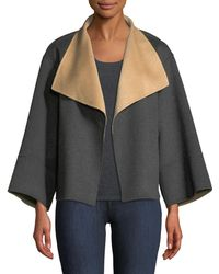 Neiman Marcus - Reversible Luxury Double-face Cashmere Jacket - Lyst