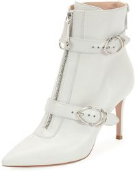 Gianvito Rossi - Napa Buckled Zip-front Ankle Booties - Lyst