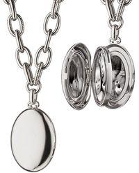 Monica Rich Kosann - Premier Sterling Silver Locket Necklace - Lyst