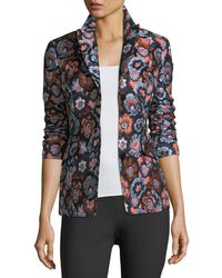 Theory - Floral Jacquard Jacket - Lyst