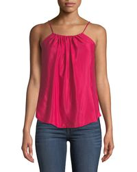 7 For All Mankind - Square-neck Shirred Camisole - Lyst