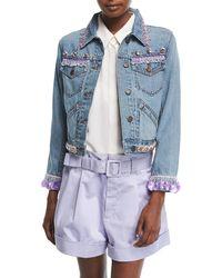 Marc Jacobs | Beaded Denim Jacket | Lyst