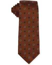 Isaia - Diamond-box Silk-cotton Tie - Lyst