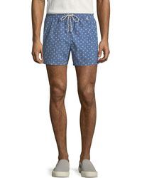 Loro Piana - Palm Print Swim Trunks - Lyst