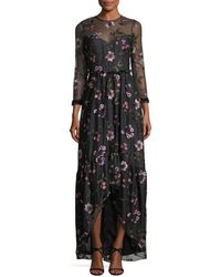 Shoshanna   Essich High-low Floral Evening Gown   Lyst