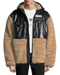 Alexander Wang - Men's Shearling Coat With Silicone Patch - Lyst