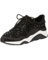 Ash - Muse Beaded Lace-up Sneakers - Lyst