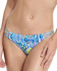Pilyq - Braided Full Swim Bikini Bottom Blue - Lyst