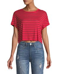 Splendid - New Haven Crop Tee - Lyst