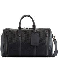 Ermenegildo Zegna - Pelle Tessuta Woven Leather Duffle Bag - Lyst