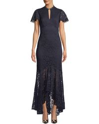 Shoshanna - Aimi High-low Floral Lace Gown - Lyst