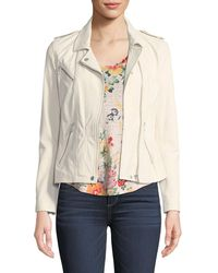 Rebecca Taylor - Washed Lamb Leather Jacket - Lyst