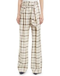 Christian Wijnants - Palash Belted Check Wide-leg Pants - Lyst