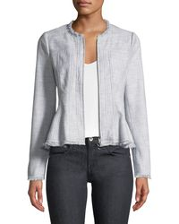 Rebecca Taylor - Slub Suiting Zip-front Jacket - Lyst