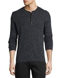 Billy Reid - Speckled Henley Sweater - Lyst