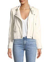 IRO | Mazey Zip-front Leather Moto Jacket | Lyst