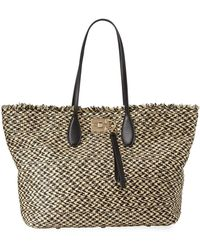 Lyst - Ferragamo Mustique Canvas Beach Bag in Gray f4ad80870b745