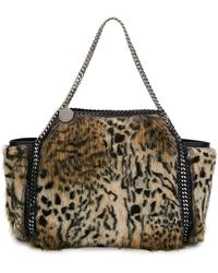 31dc35c7e39f Stella McCartney - Small Falabella Snow Cat Fur Free Fur Reversible Tote Bag  - Lyst