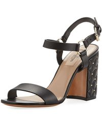 Valentino | Rockstud Quilted City Sandal | Lyst