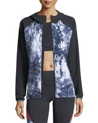 Lyst Under Armour Outrun The Storm Printed Performance Jacket In Black