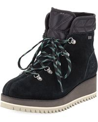 bb9cb4b28de UGG - Birch Lace-up Wedge Hiker Booties - Lyst