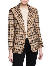 Kate Spade - Bicolor Double-breasted Tweed Blazer - Lyst