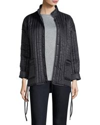Eileen Fisher - Quilted Recycled Nylon Kimono Coat - Lyst