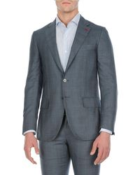 Isaia - Textured Wool-stretch Two-piece Suit - Lyst