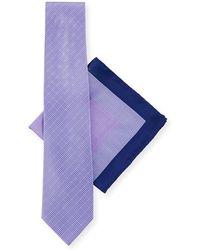 Stefano Ricci - Large-check Tie & Pocket Square Set - Lyst