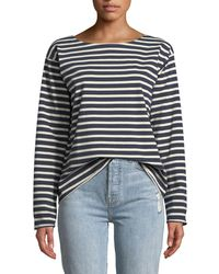 M.i.h Jeans - Simple Mariniere Long-sleeve Shirt - Lyst
