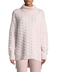 Lela Rose - Dotted Turtleneck Wool-cashmere Pullover Sweater - Lyst