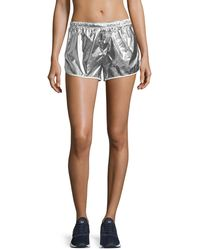 Tory Sport - Metallic Pull-on Performance Shorts - Lyst