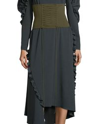 Tibi - Knit Lace-up Tie Corset Belt - Lyst