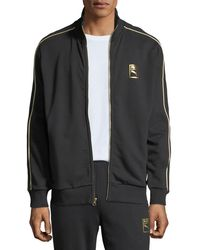 236b23050f5c Lyst - PUMA Chains T7 Zip-up Men s Jacket in Black for Men